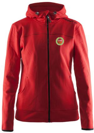 Hoodjacka från CRAFT(dammodell)röd