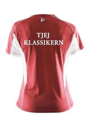 Funktionell tränings t-shirt från CRAFT.,Röd dammodell.
